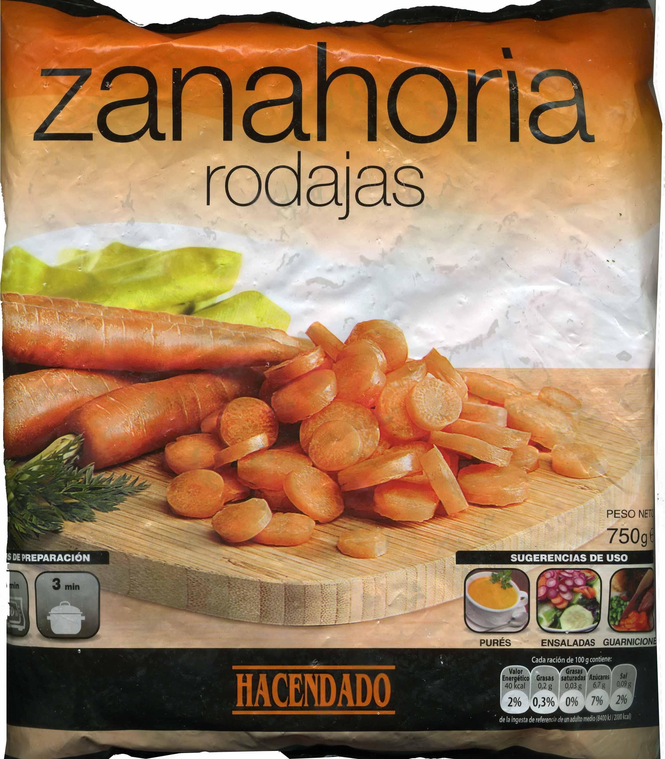 Zanahorias en rodajas congeladas - Produit - es