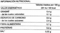 Verdura para paella - Informations nutritionnelles - es