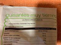 Guisantes - Ingredienti - es