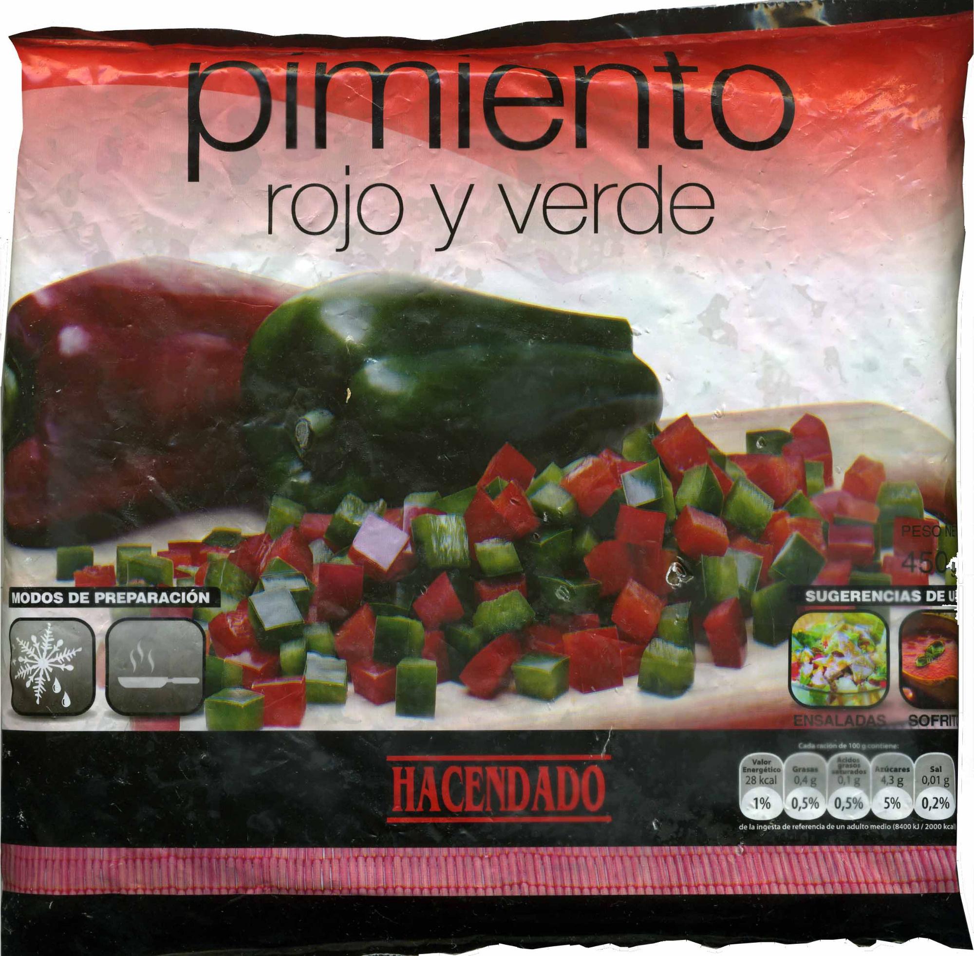 Pimientos rojos y verdes congelados - Produit - es
