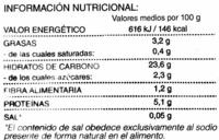 Ajo troceado - Informació nutricional - es