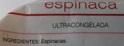 Espinaca - Ingredientes
