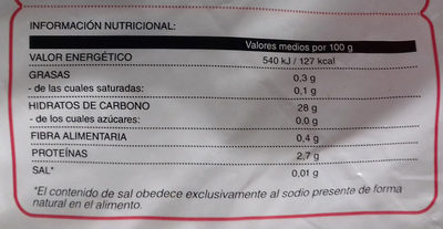 Arroz Precocido - Información nutricional