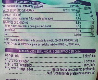 FILETES DE MERLUZA - Informations nutritionnelles
