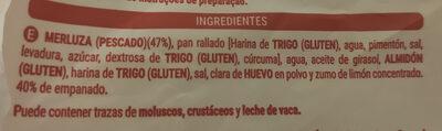 Figuritas de merluza empanadas - Ingrédients - es