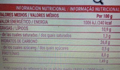 Figuritas de merluza empanadas - Informations nutritionnelles - es