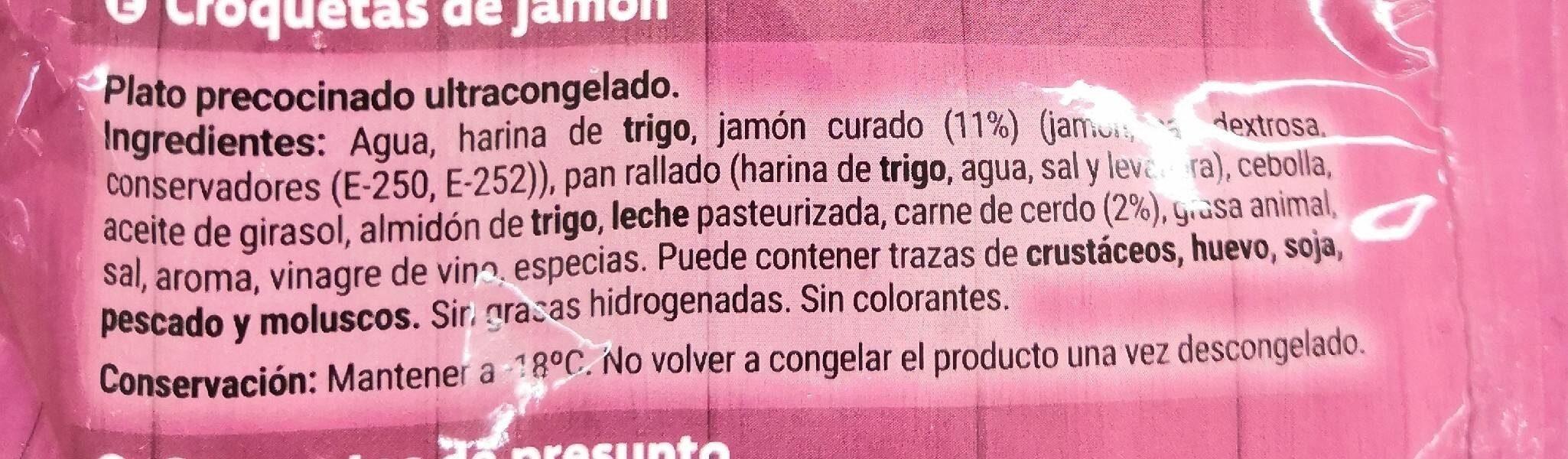 Croquetas de jamon - Ingredientes - es