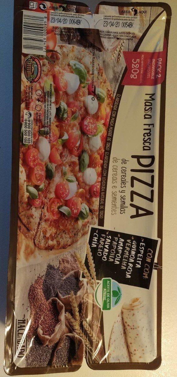 Masa fresca pizza de cereales y semillas - Product - es