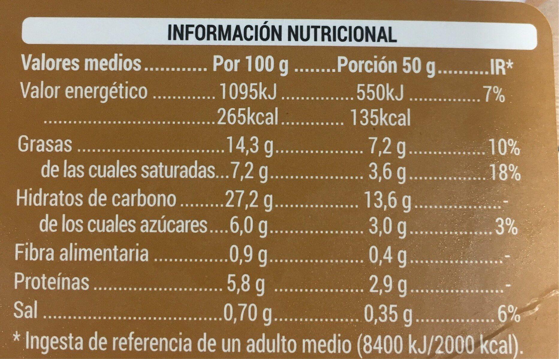 Crepes - Información nutricional - es