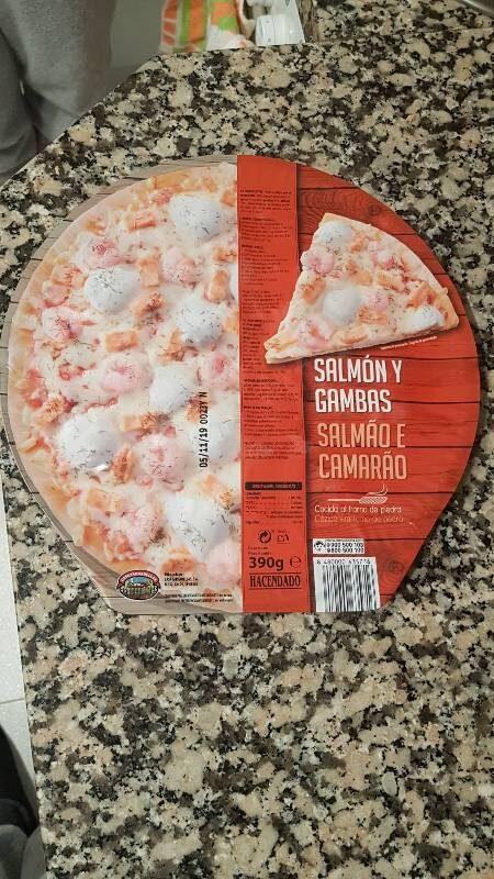 Pizza salmón y gambas - Producto