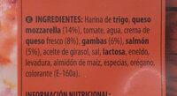 Pizza salmón y gambas - Ingredientes