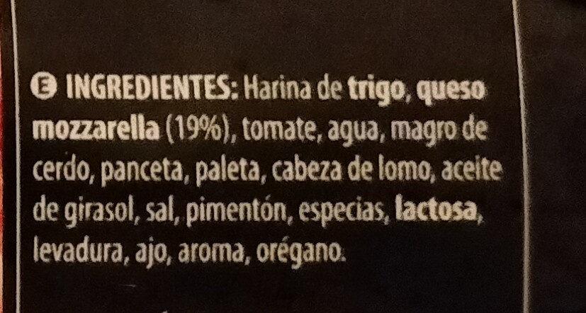 Pizza ibérica - Ingredientes - es