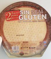 2 bases para pizza sin gluten - Producto - es