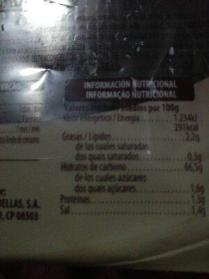 2 bases para pizza sin gluten - Información nutricional - es