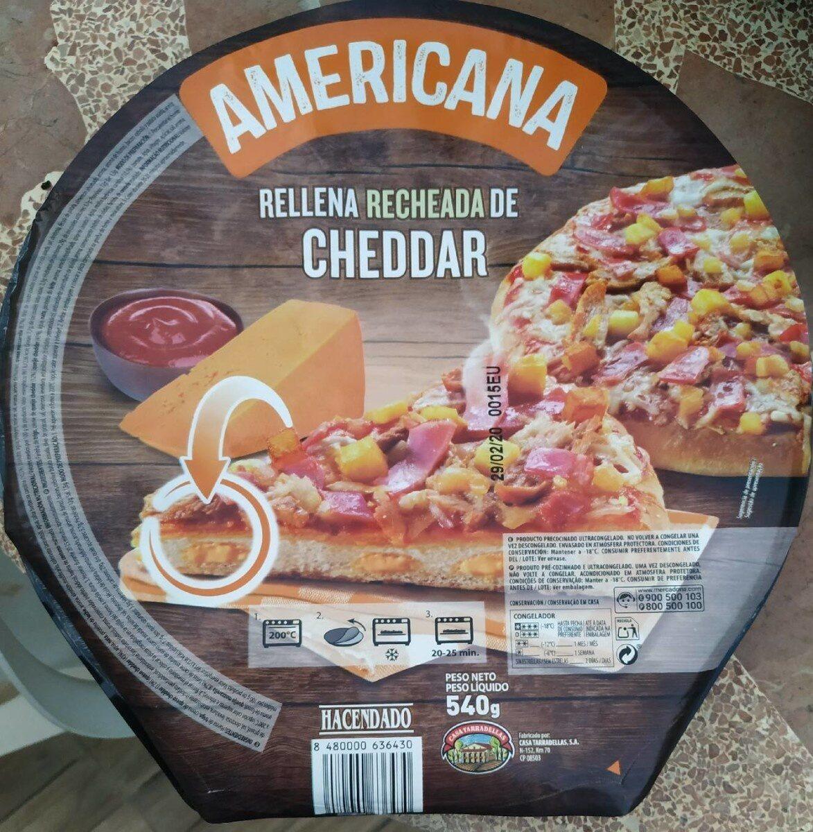 Pizza Americana Rellena de Cheddar - Producto