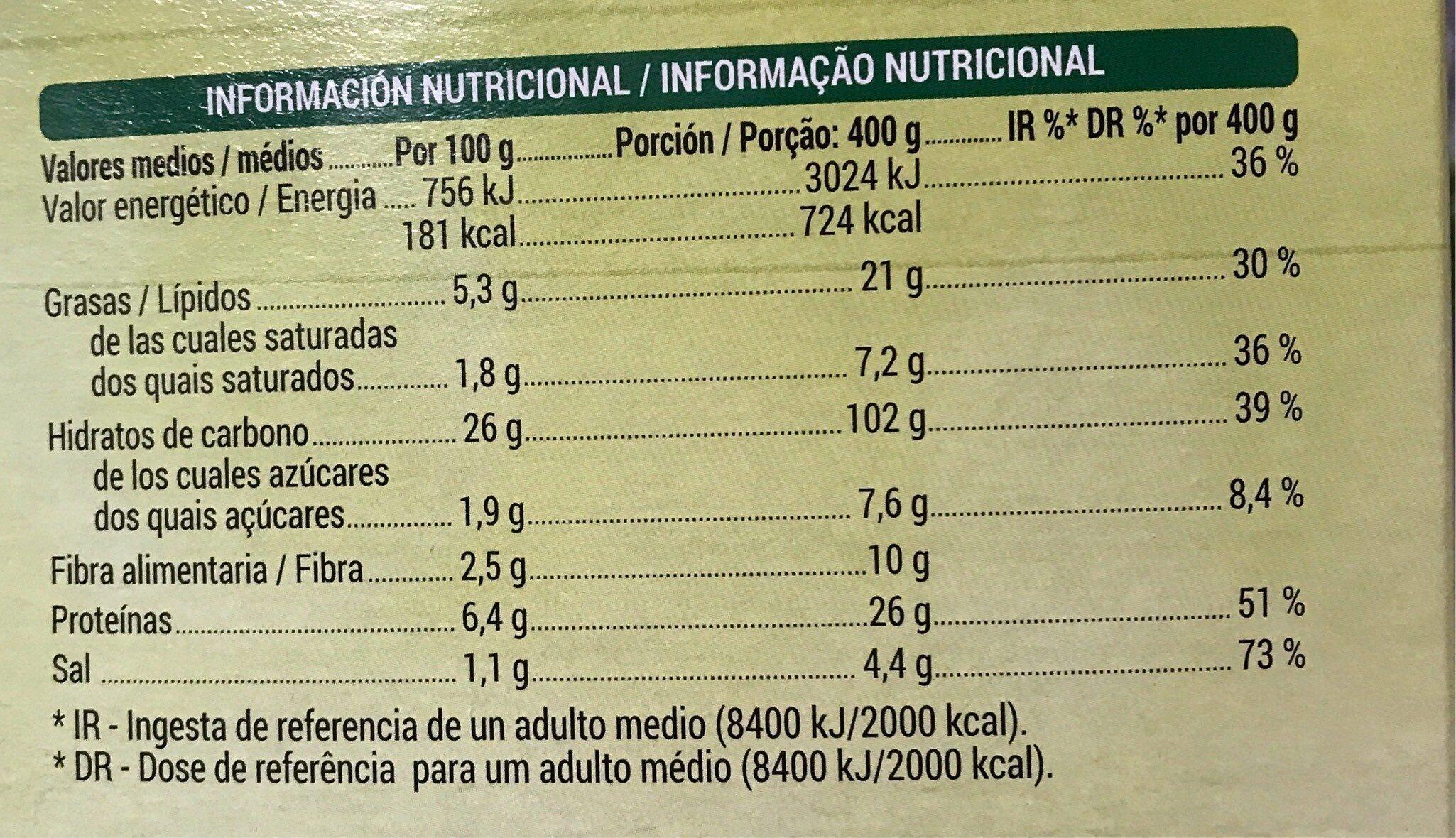 Vegan Pizza rúcula y tomate seco - Voedingswaarden - es