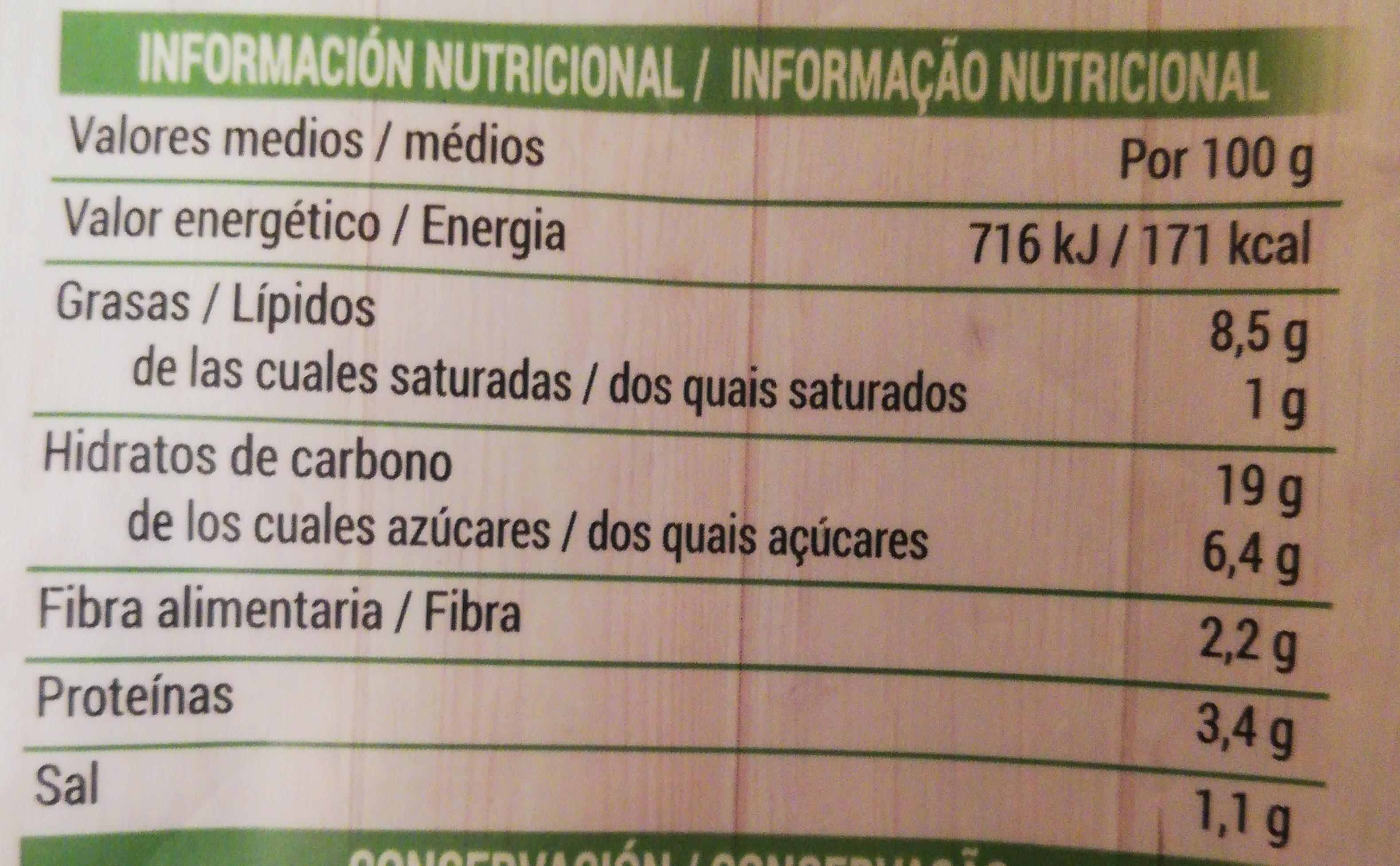 Croquetas Espinacas - Informació nutricional