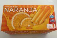Helados de naranja - Produit - fr