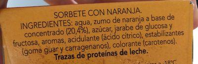 Helados de naranja - Ingrédients - fr