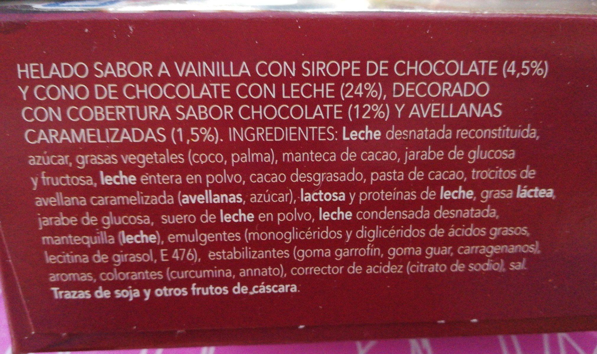 Cône chocolat - Ingredients
