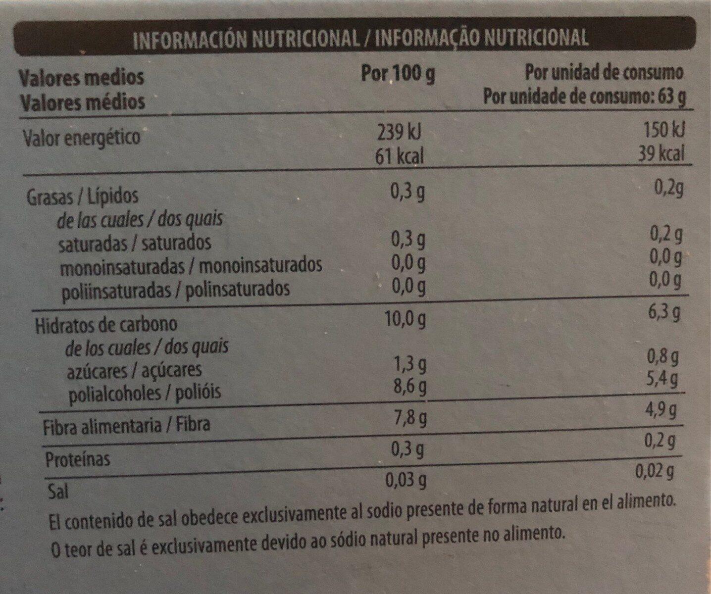 Cremoso limon - Información nutricional - es