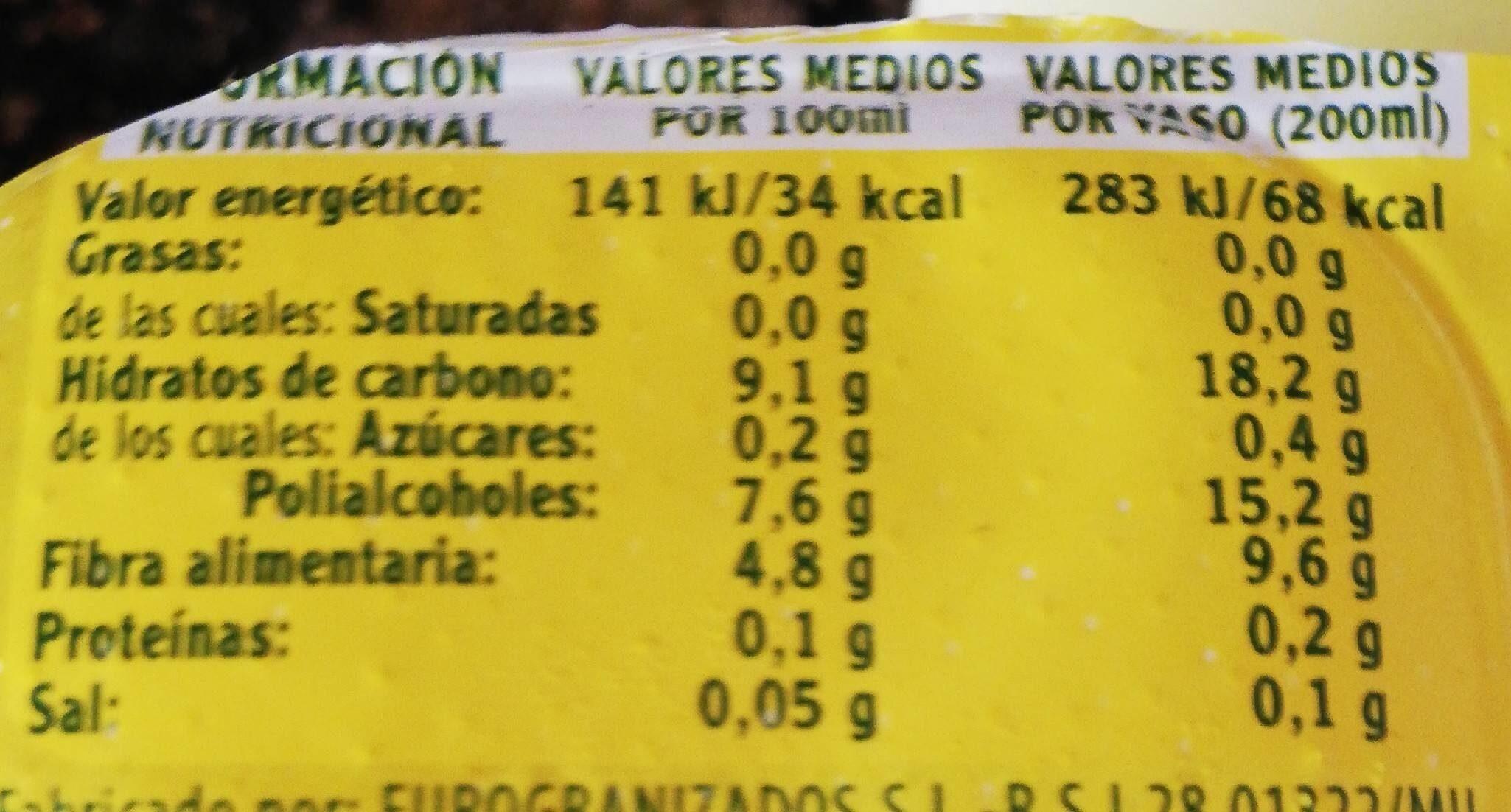 Granizado De Limón Sin Azúcar Hacendado