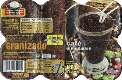 Granizado de café - Produit