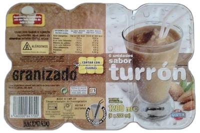 Granizado sabor turrón - Producto - es