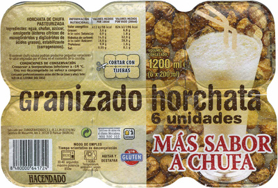 Granizado horchata