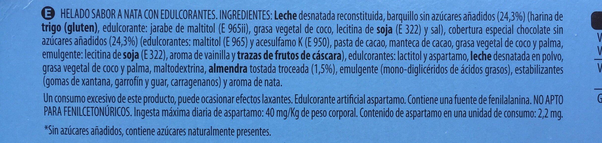 Mini Nata - Ingredients - es