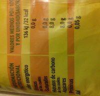 Popitos flash - Información nutricional - en