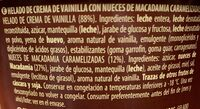 Helado Vainilla macadamia - Ingredients