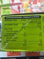 helado de lima limón - Informations nutritionnelles