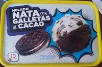 Helado nata con galletas al cacao - Producto