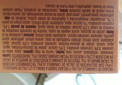 Vanilla caramelo - Ingredientes