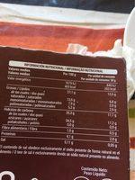Mini nocciola - Información nutricional