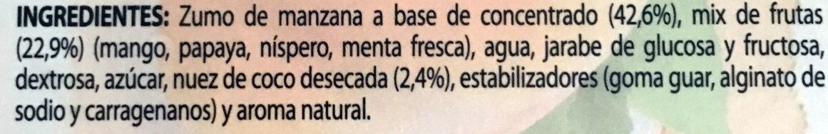Polos frutas - Ingredients - es