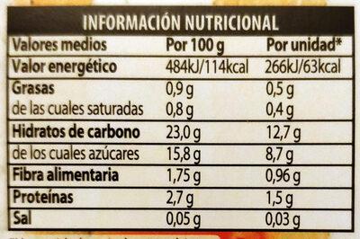 Polos frutas - Información nutricional - es