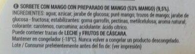 Sorbete de mango - Ingredients - es