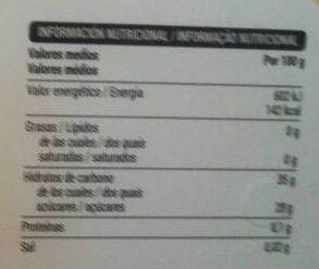 Sorbete de mango - Informació nutricional - es