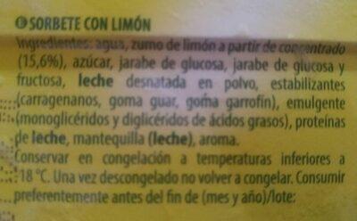 Limon - Ingredientes