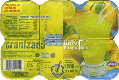 Granizado de limón - Producto - es