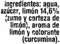 Granizado de limón - Ingredientes - es