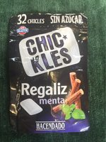 Chicles Regaliz/menta sin azúcar - Produit - fr