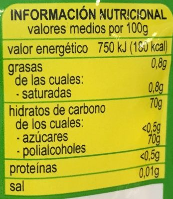 Chic*kles hierbabuena - Informations nutritionnelles