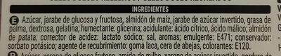 Tubos - Ingredienti - es