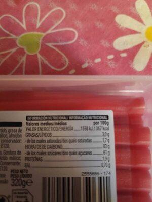 Tubos - Informació nutricional