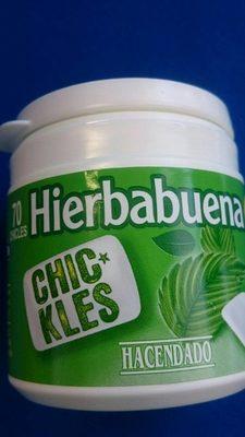 Chikles Hierbabuena chewing-gum chlorophylle - Información nutricional
