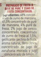 Golosinas Con Fresa - Hacendado - 50G - Ingredients