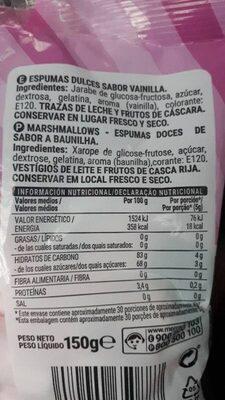 Nubi Mallow - Informations nutritionnelles